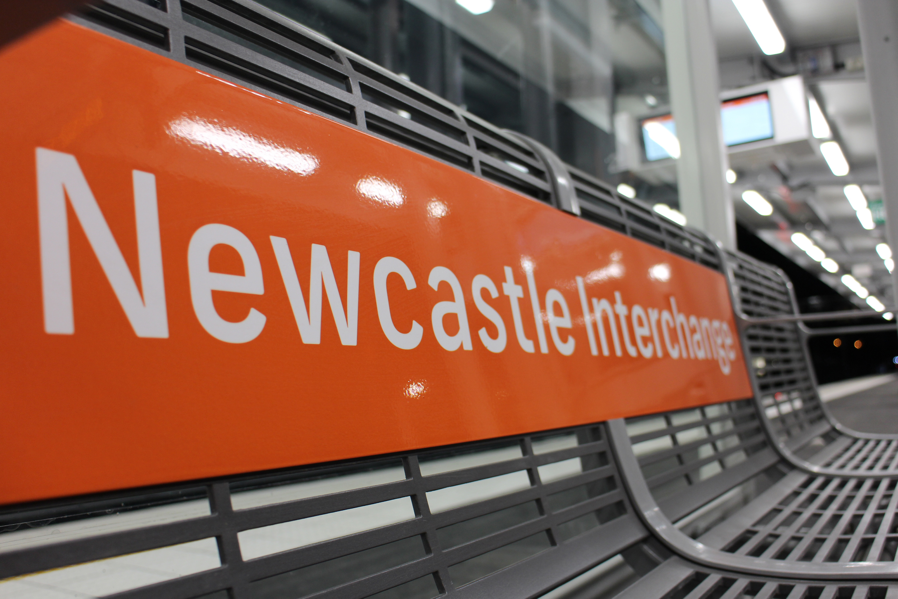 Picture of Newcastle Interchange sign