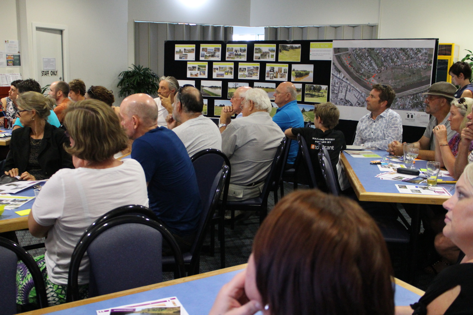 Community and stakeholders participating in a consultation workshop