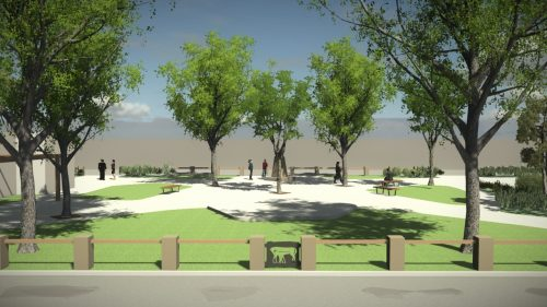 Artist impression: Landscape architecture services and urban design