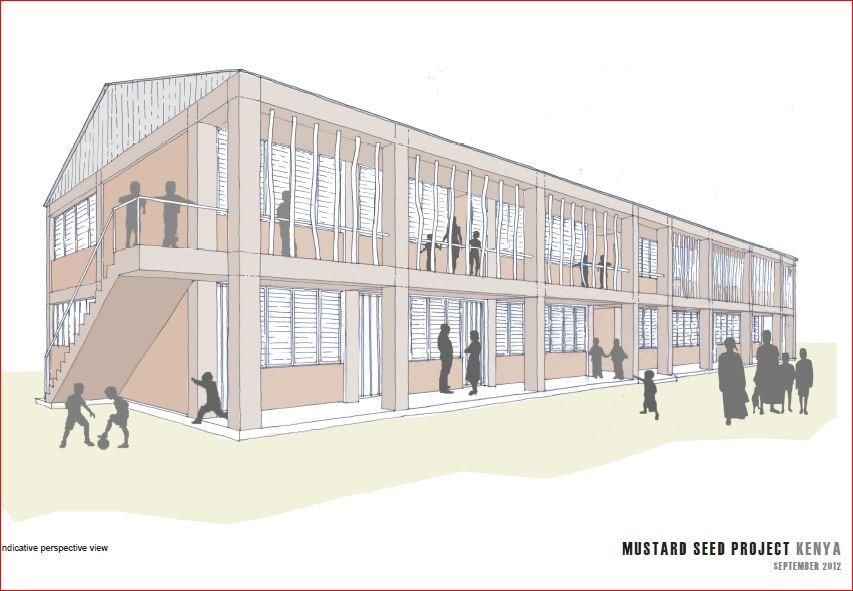 What the new school building will look like when completed.