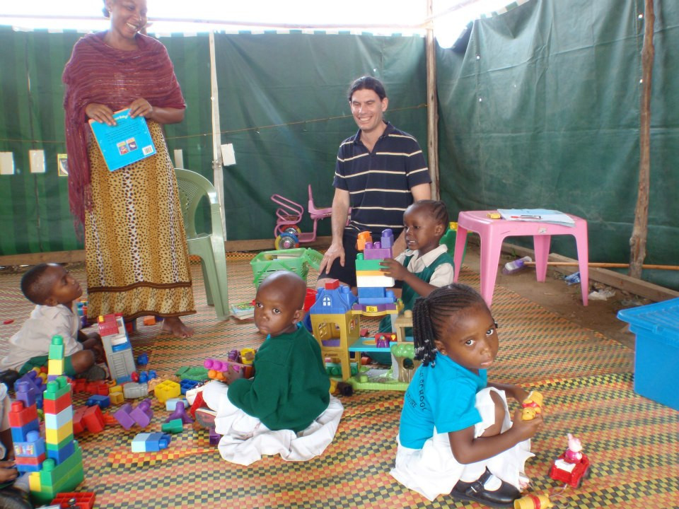 Tadd (fourth generation Kenyan) visiting the nursery school in 2012.