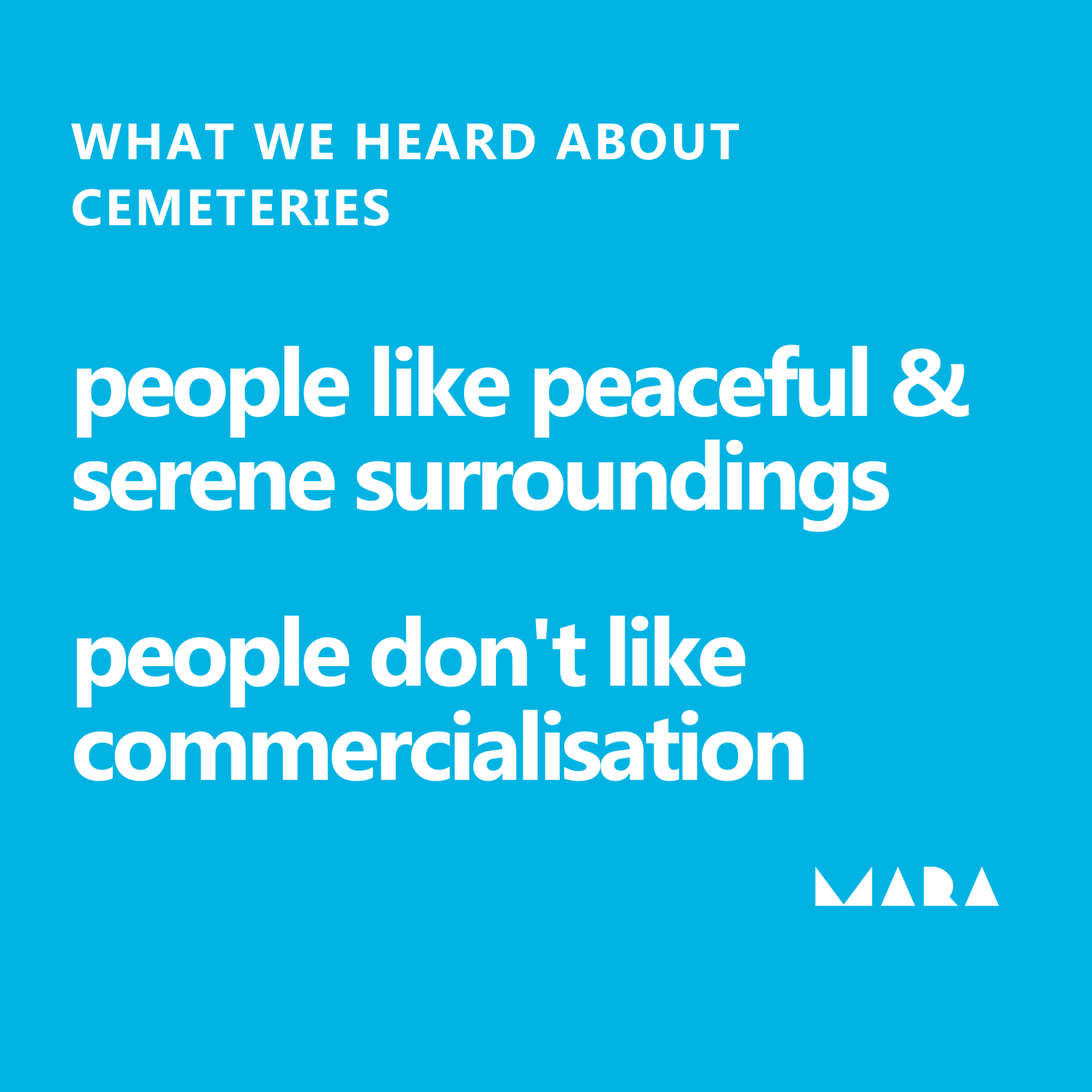 Northern Cemeteries - what people like
